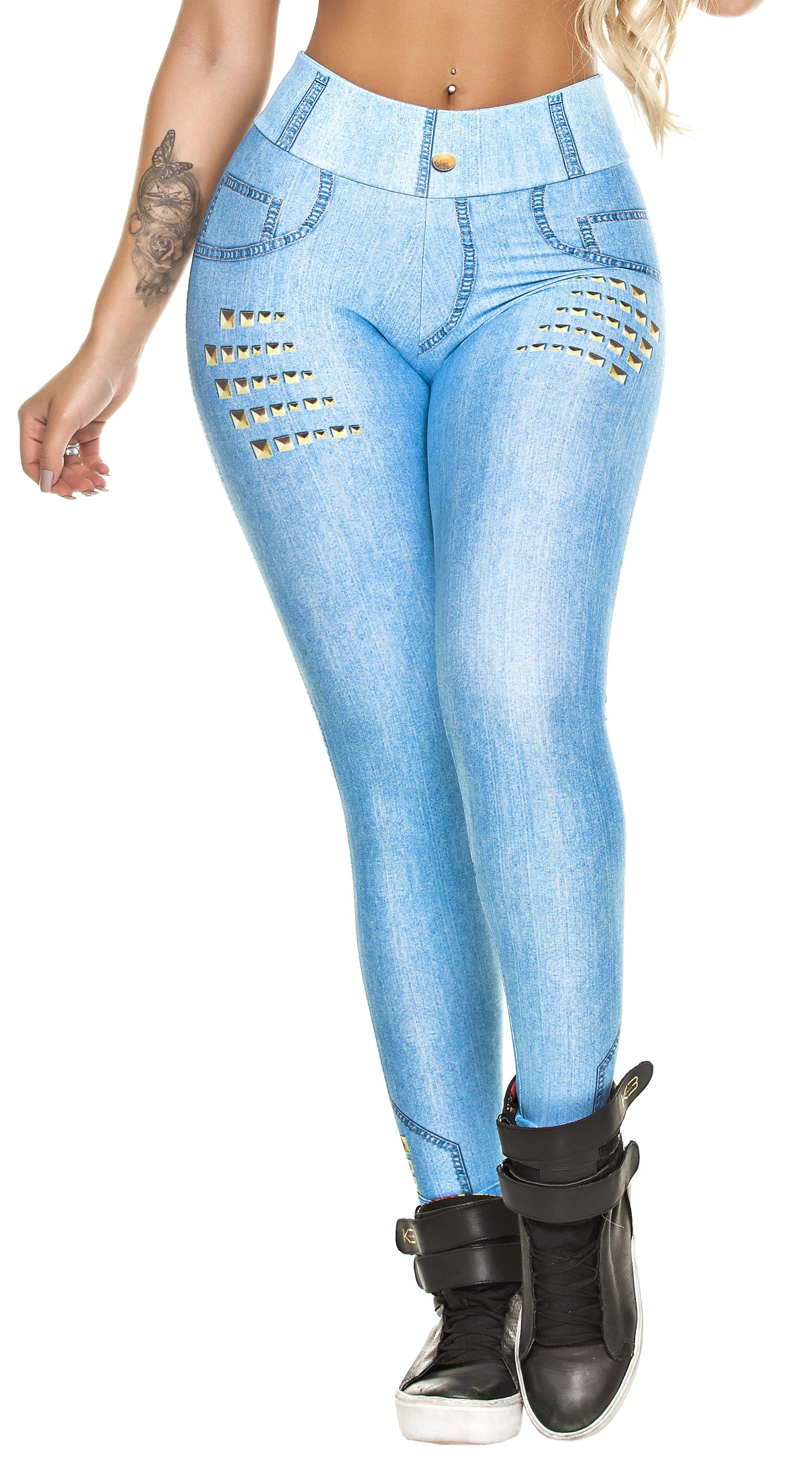 Brazilian Legging - Fake Jeans Light Blue Legging