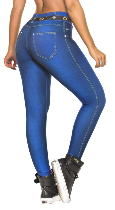 Brazilian Legging - Fake Jeans Navy Blue Legging