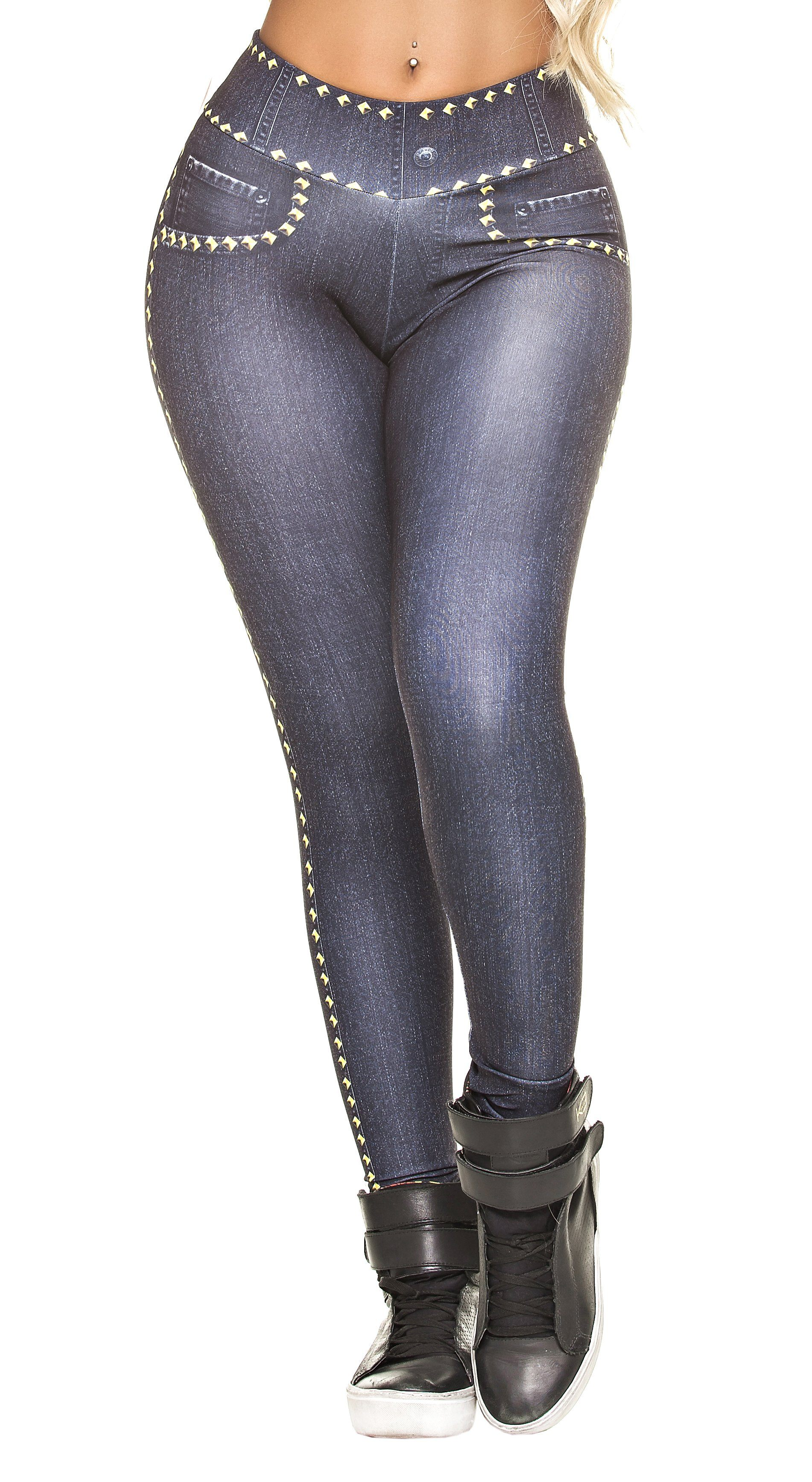 Brazilian Legging - Fake Jeans Glam Legging