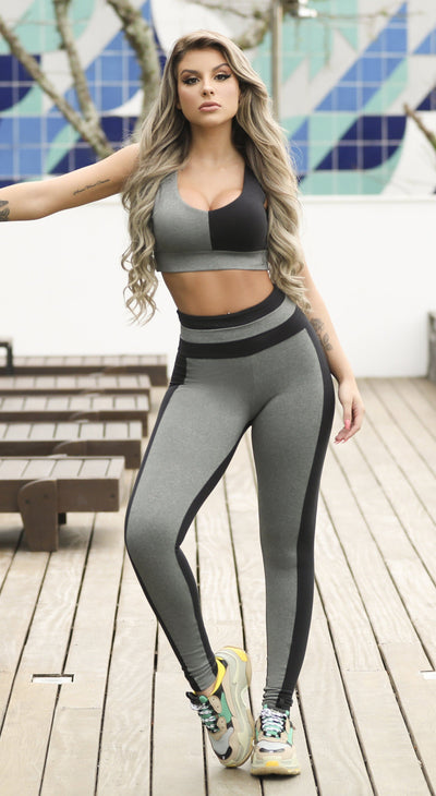 Workout Legging - Bicolor Fantasy