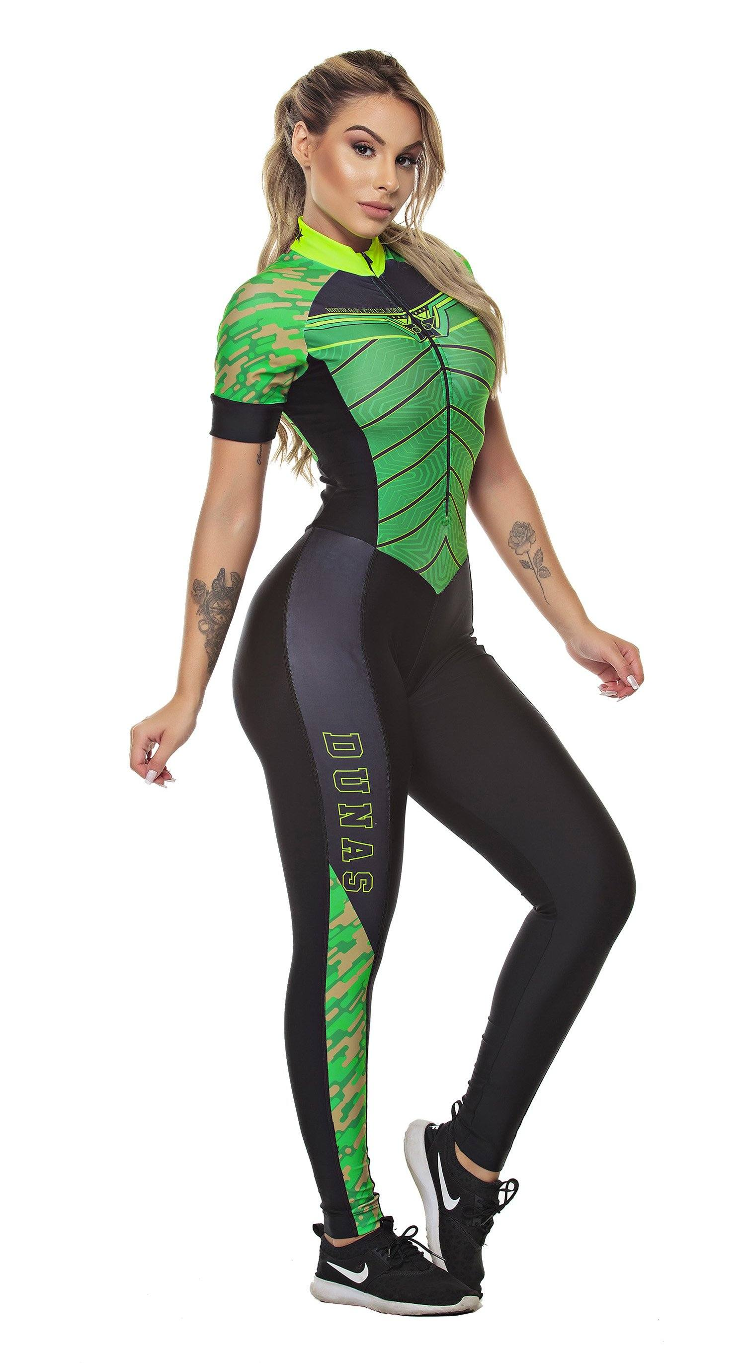 Biker Jumpsuit - Triathlon Green