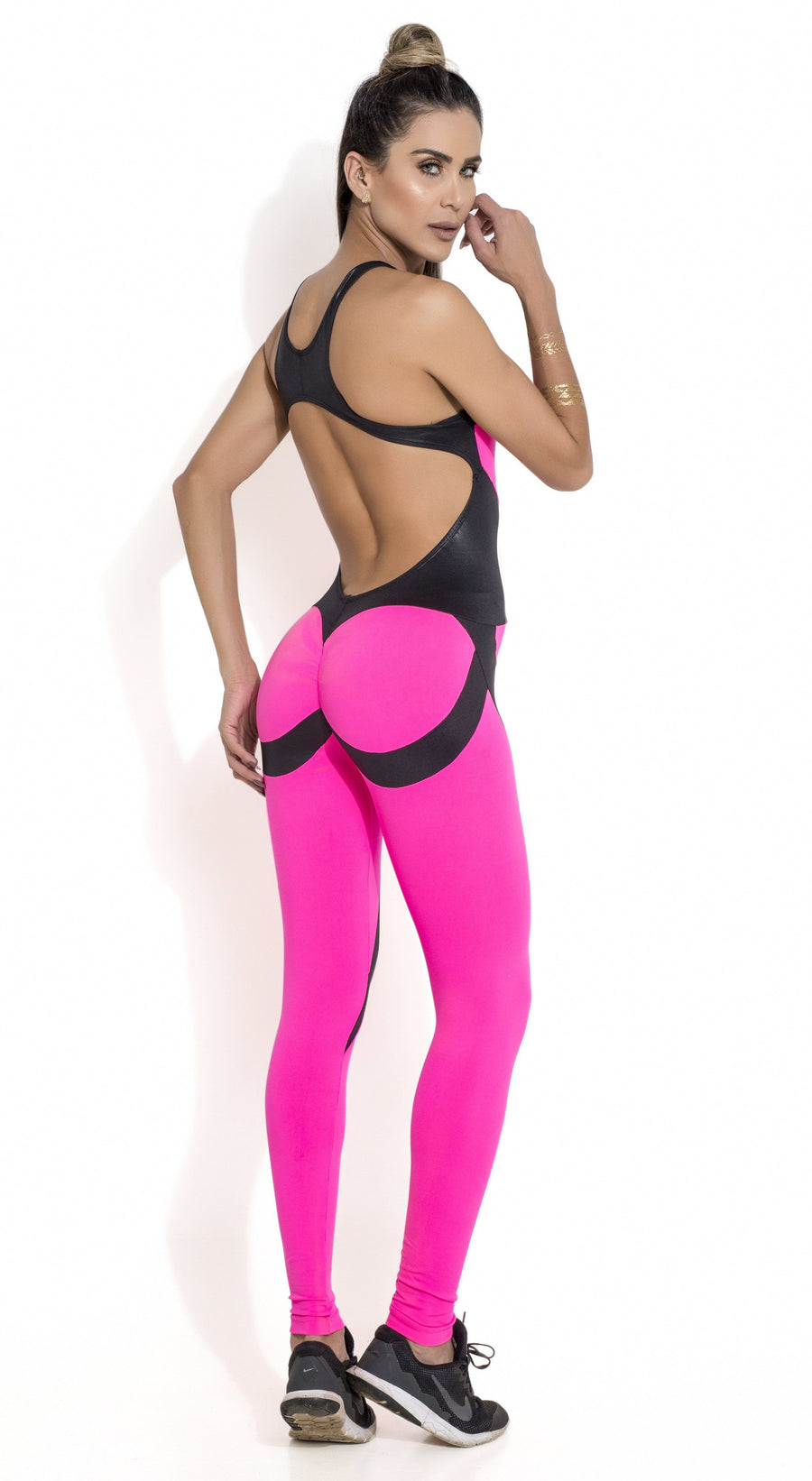 3e740a9acc2c Brazilian Workout Jumpsuit - Scrunch Booty Girl Power Pink