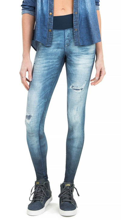 Brazilian Jegging - Liveness Reversible Denim Legging