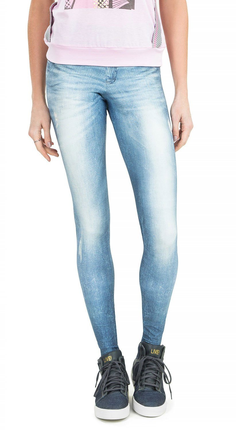 Brazilian Jean Legging - Technological Blue Denim Pants