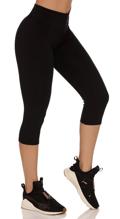 Brazilian Workout Capri Pants - Scrunch Booty Lift! Black