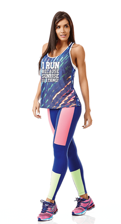 Workout Legging - Sport  Neo Black or Blue