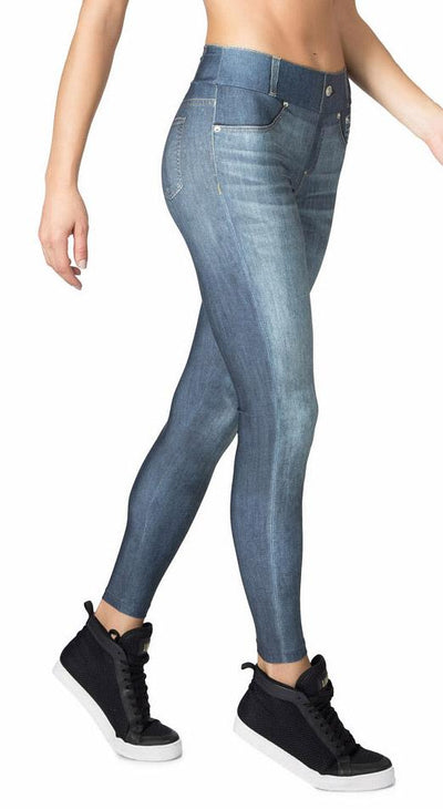 Brazilian Fake Jean Legging - Cool Jeans Tight Blue