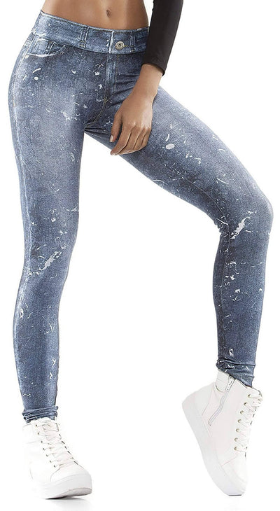 Brazilian Fake Jeans - Marble Denim