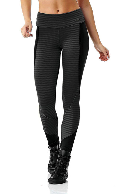Workout Legging - Stripes Black
