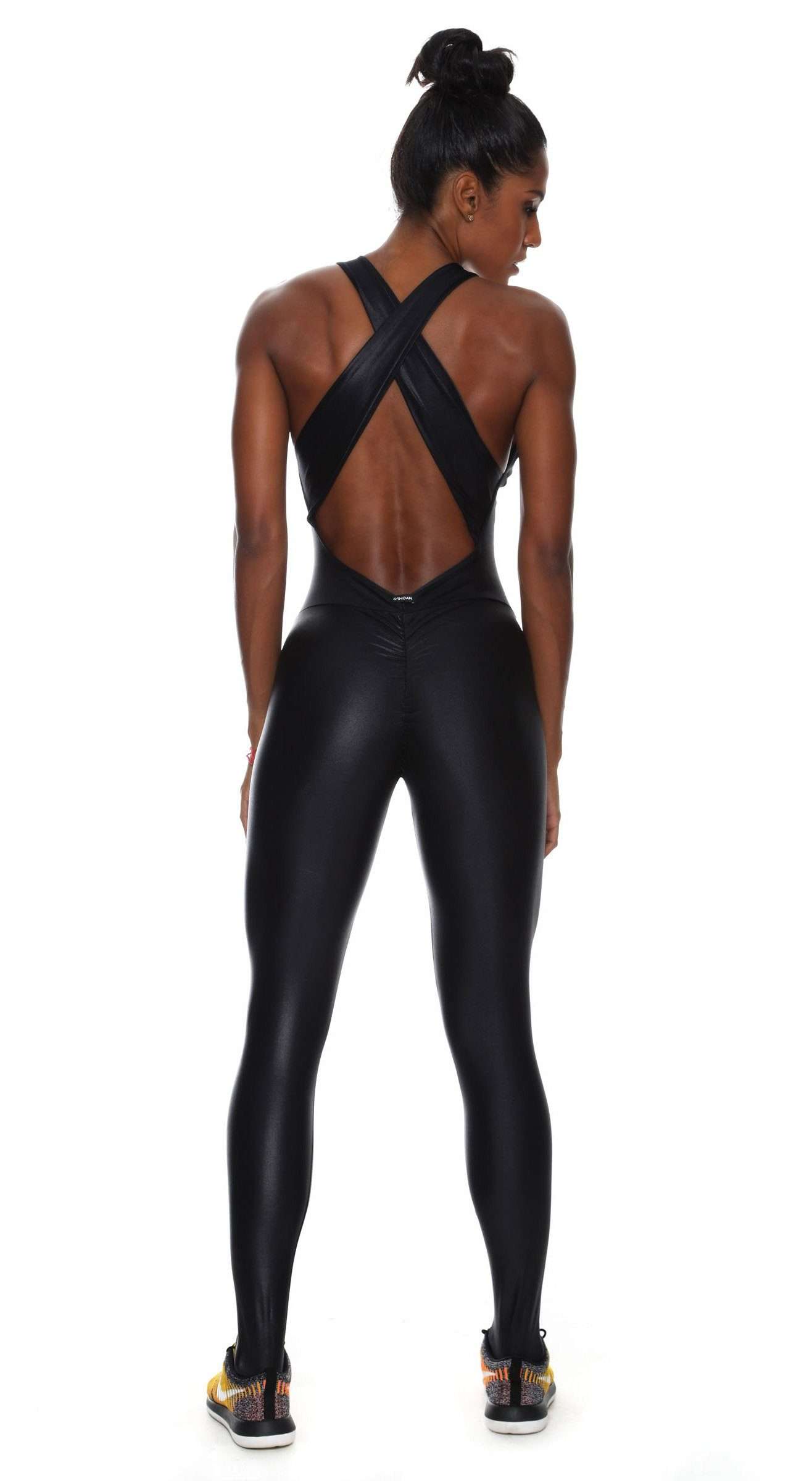 Brazilian Workout Bodysuit - Scrunch Booty Lift Cire Black