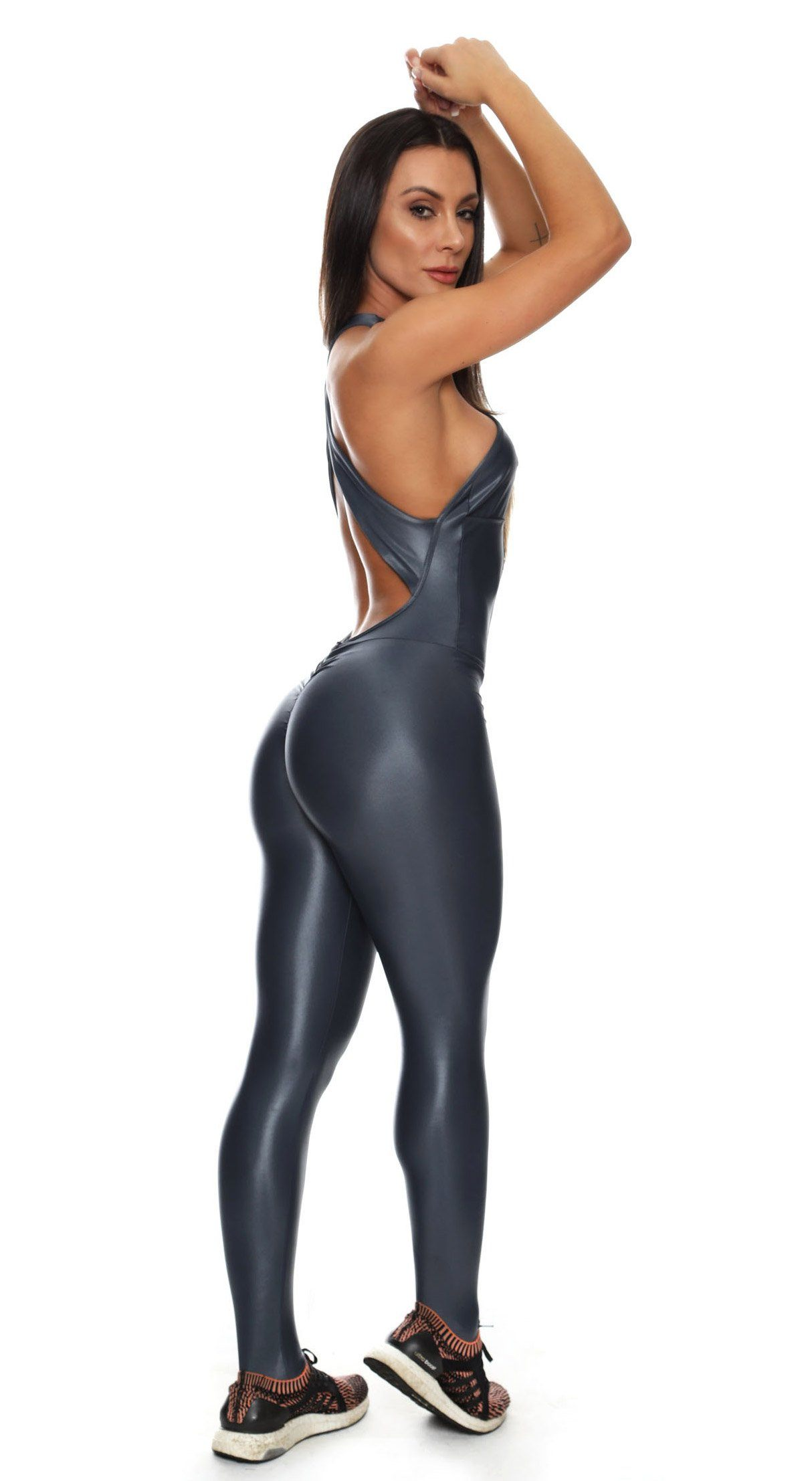 Brazilian Workout Bodysuit - Scrunch Booty Lift Cire Gray