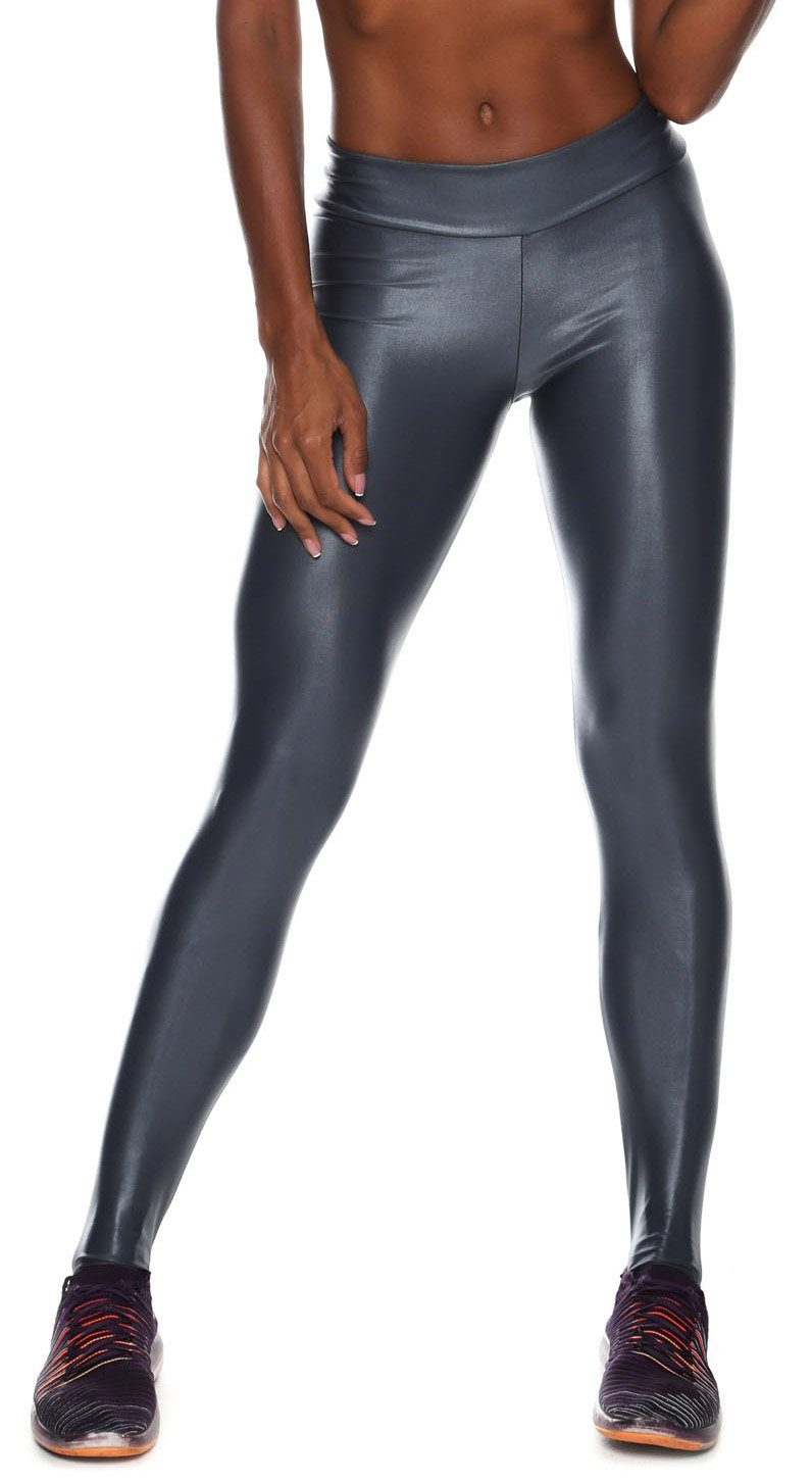 Brazilian Workout Legging - Scrunch Booty Lift! Cire Gray