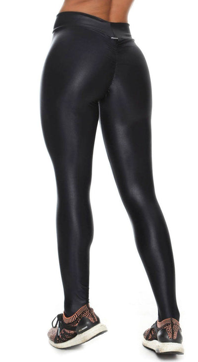Brazilian Workout Legging - Scrunch Booty Lift! Cire Black