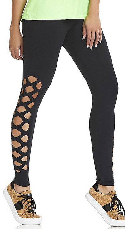 Yoga Pants - NZ Mind Black Laser Cut