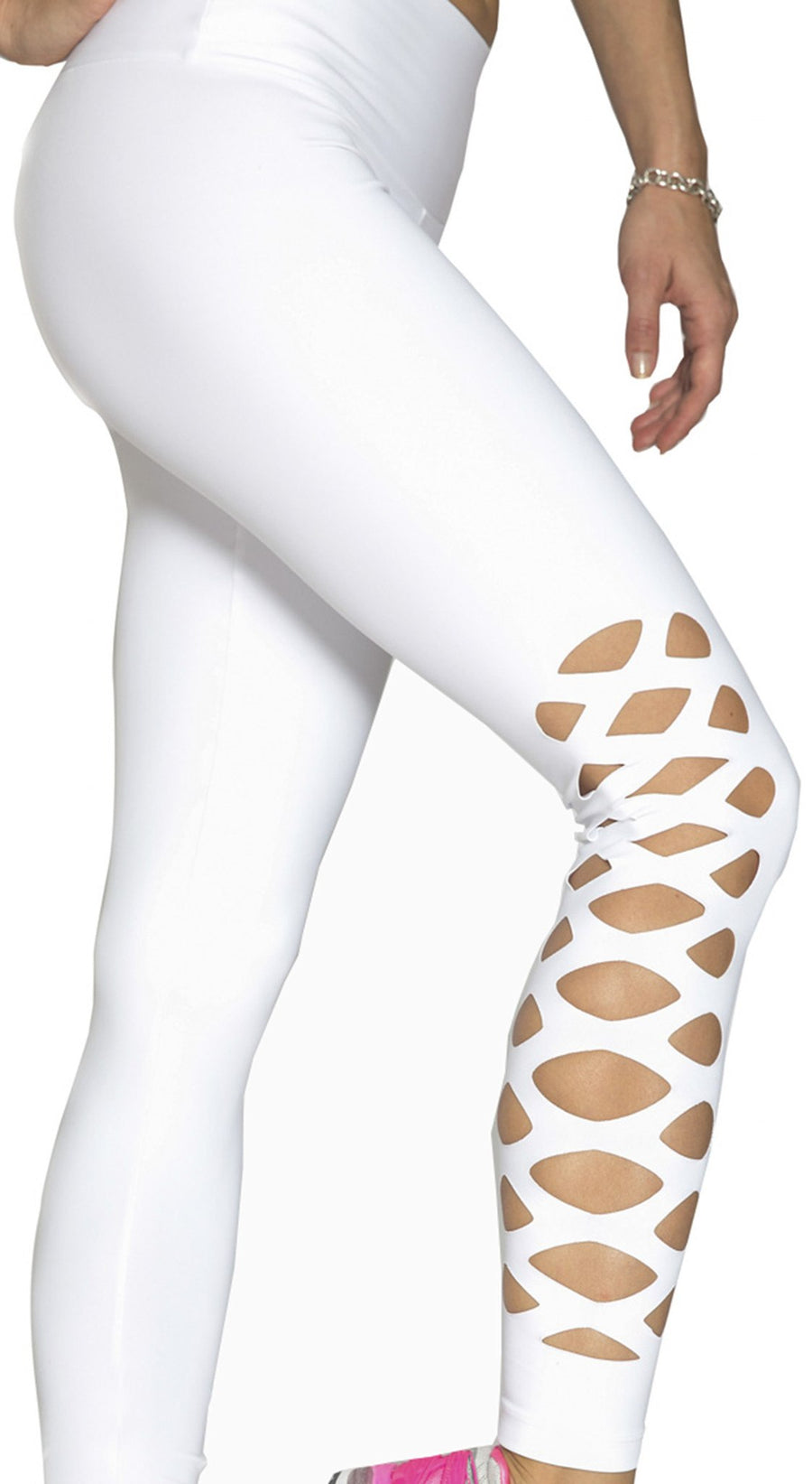 Yoga Pants - NZ Mind White Laser Cut