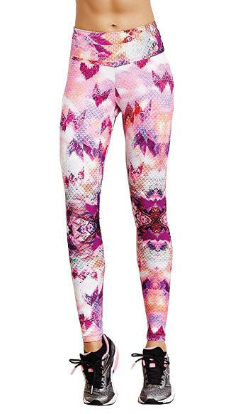 Brazilian Workout Legging - Oil Texture Print