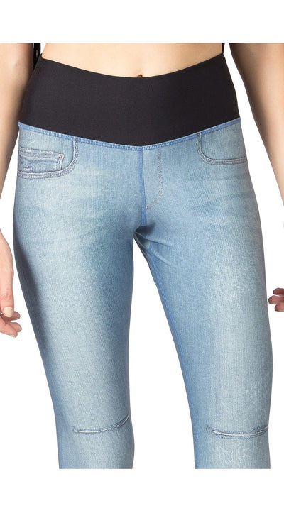 Fake Jeans Legging - Reversible Breath Deep Tight