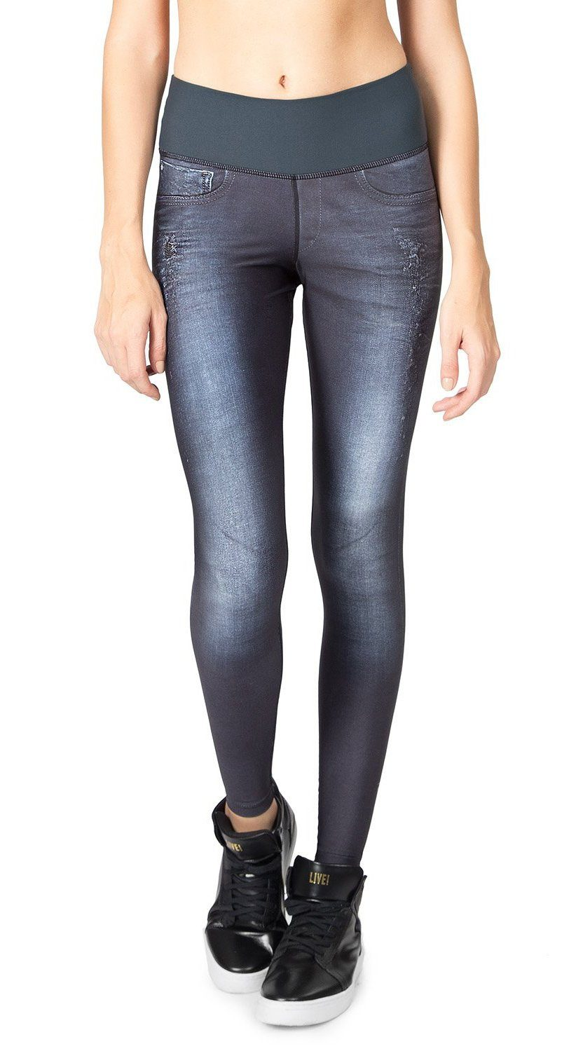 Fake Jeans Legging - Active Mood Reversible Tight