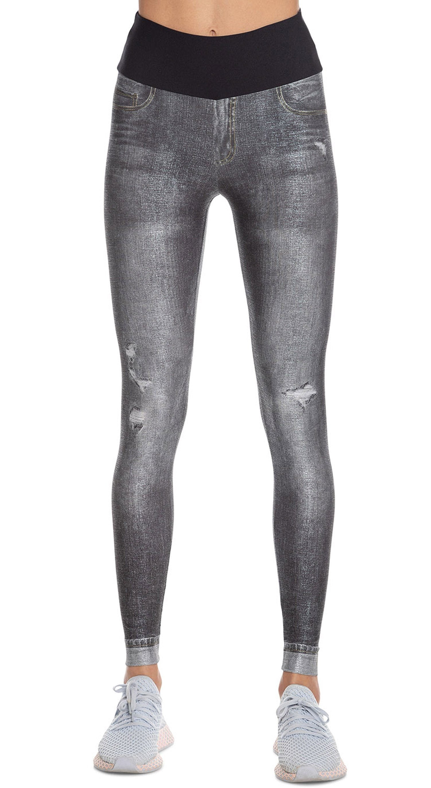 Brazilian Fake Jeans Legging - Star Black Jeans Legging