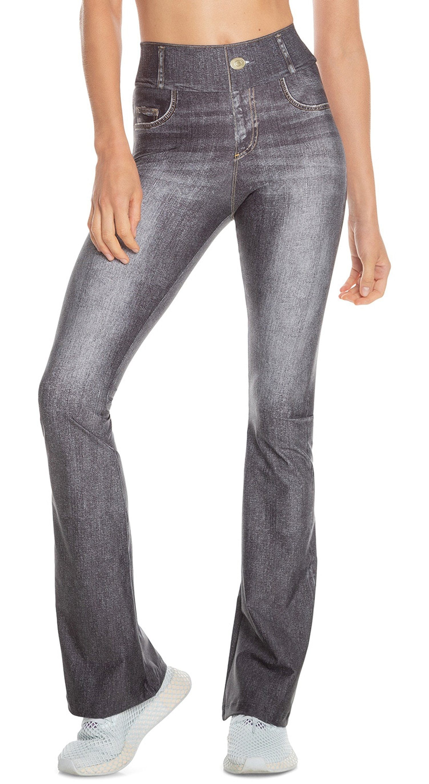 Brazilian Jeans Legging - Rush Denim Flare Black Effect