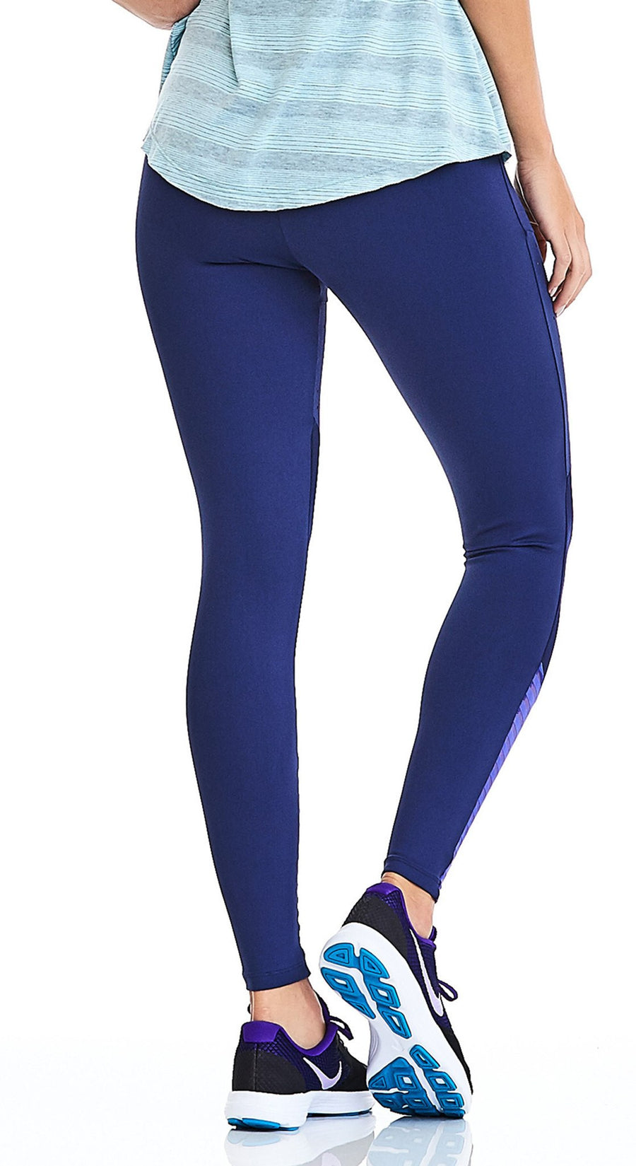 Active Yoga Pants  - Laser Mesh Premium Navy Blue