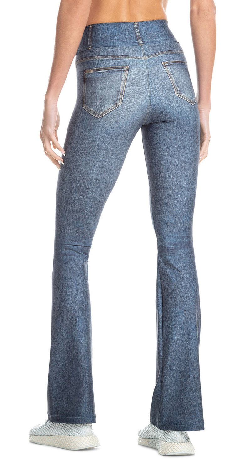 Brazilian Jeans Legging - Rush Denim Flare Blue
