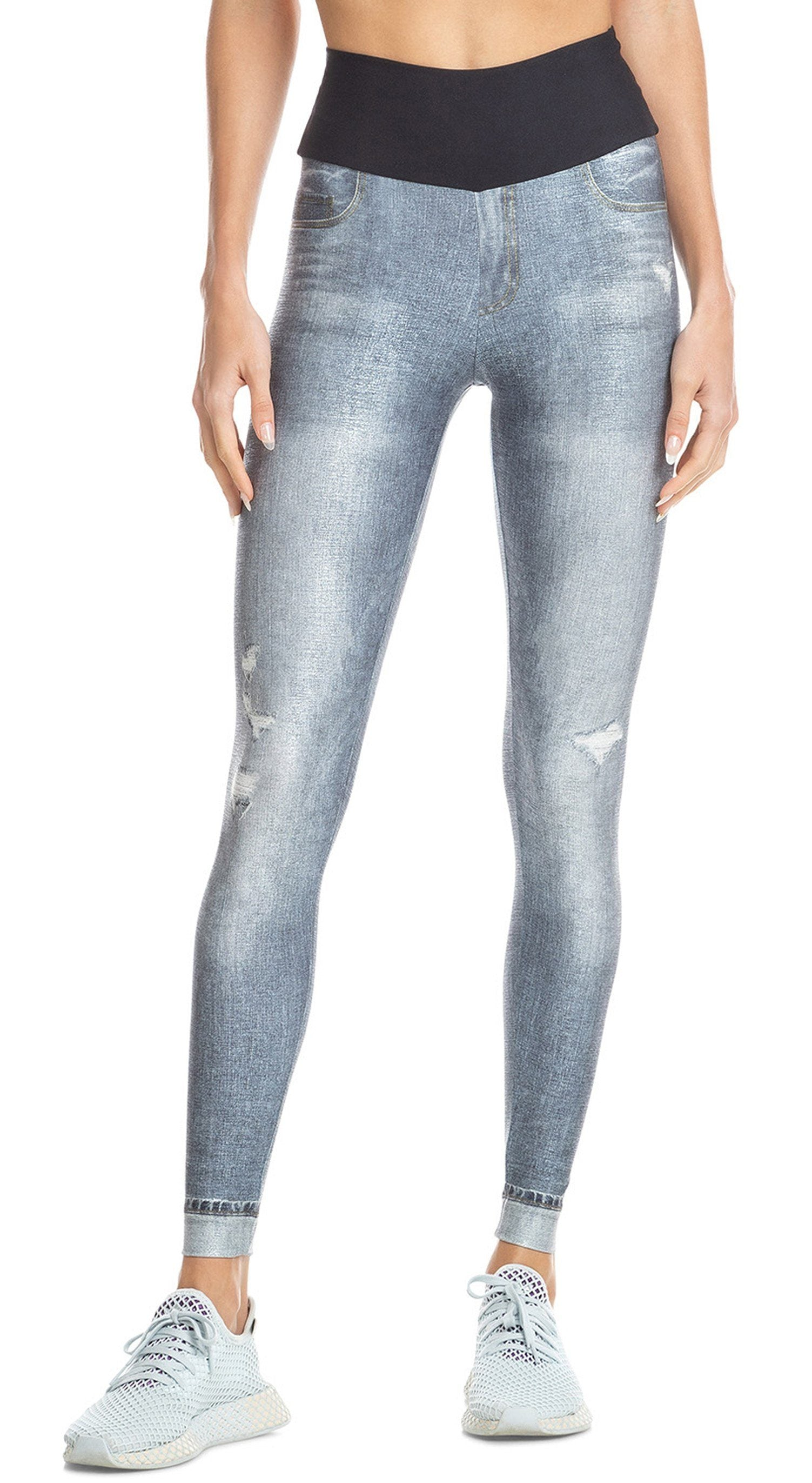 Mareled Jeans Legging