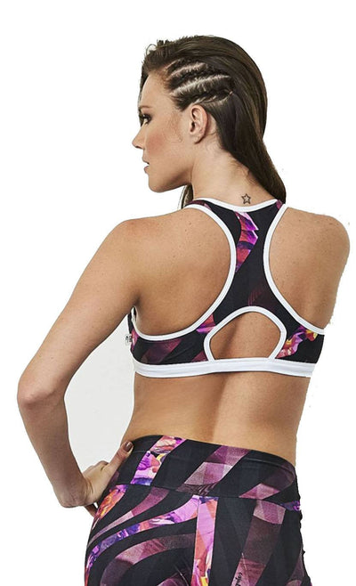 Active Sports Bra - Top Curves Print