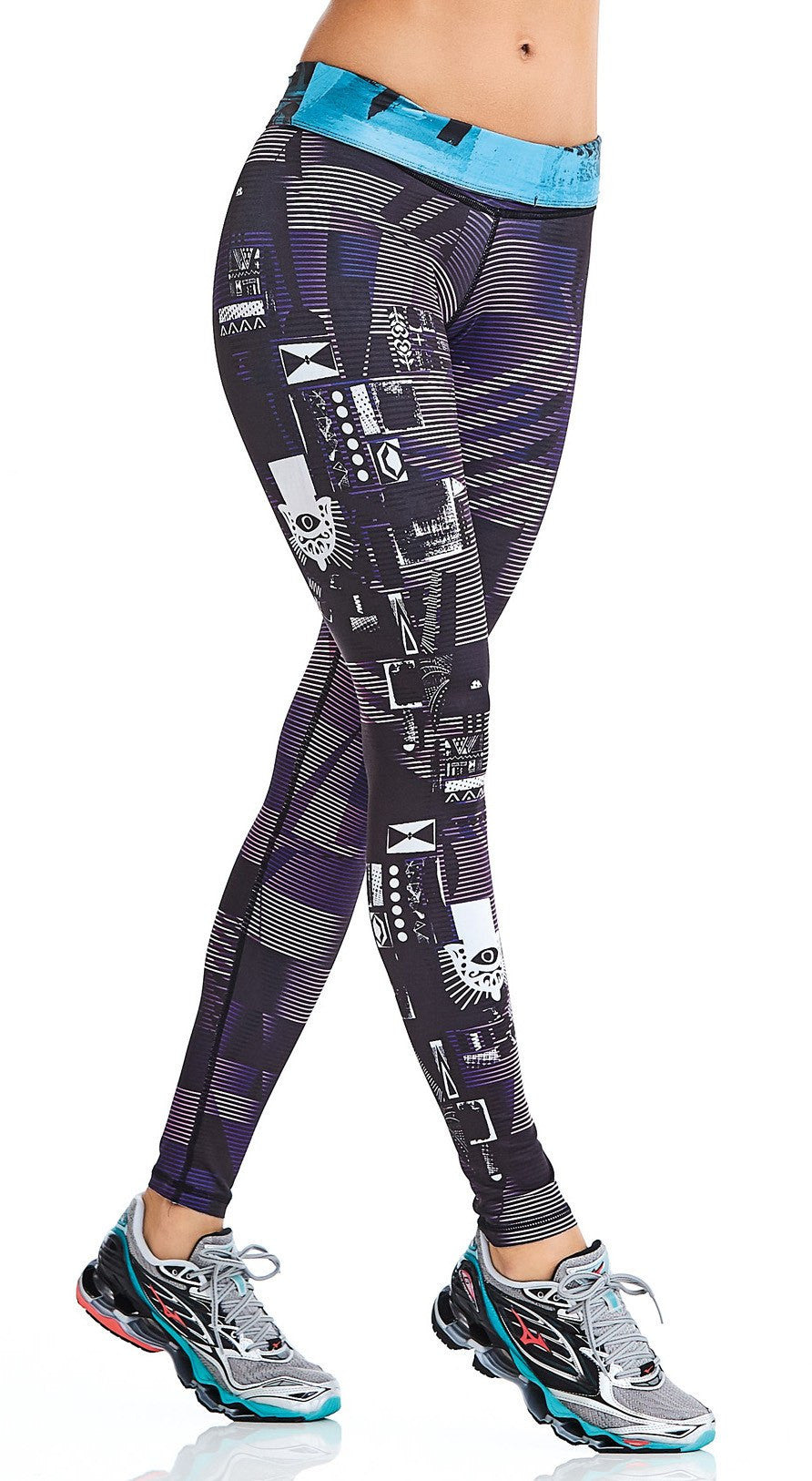 Brazilian Reversible Legging - Double Side City Print