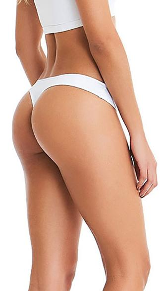No Camel Toe Under Fit Thong White