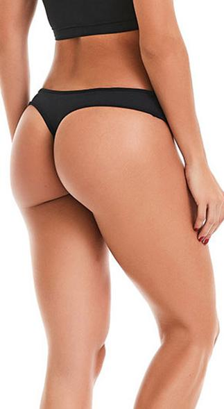 No Camel Toe Under Fit Thong Black