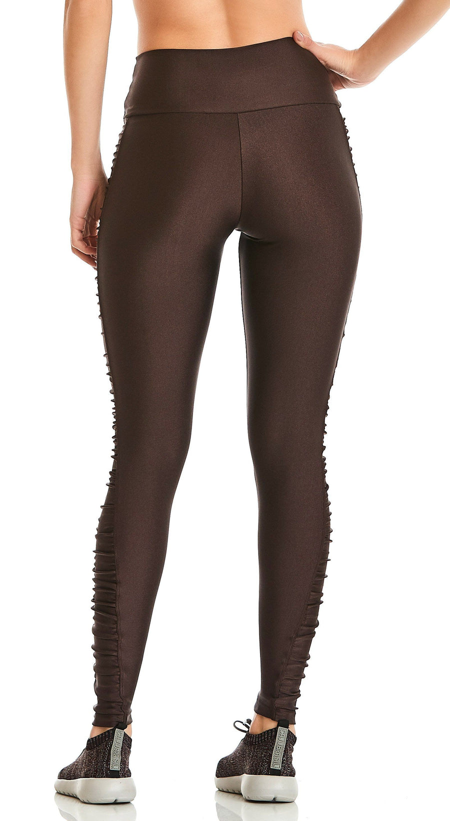 Brazilian Ruched Legging - Ruched Inspire Brown