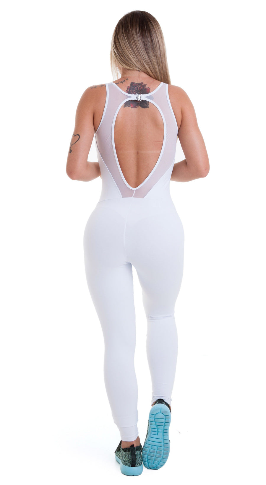 Brazilian Workout Jumpsuit - Emana Charm White