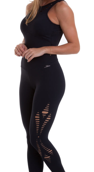 Brazilian Workout Jumpsuit - NZ New York Laser Cut Black