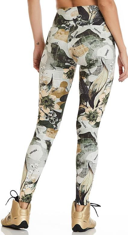 Brazilian Workout Legging - Fit Cross Print