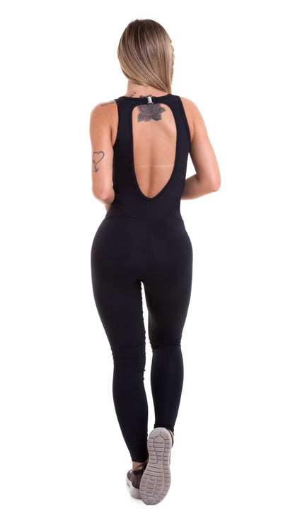Brazilian Workout Jumpsuit - NZ Yoga Basic Black