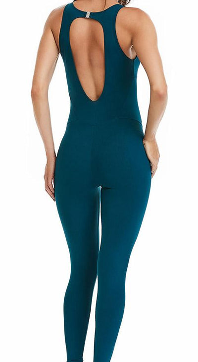 Brazilian Workout Jumpsuit - NZ Yoga Basic Teal Green