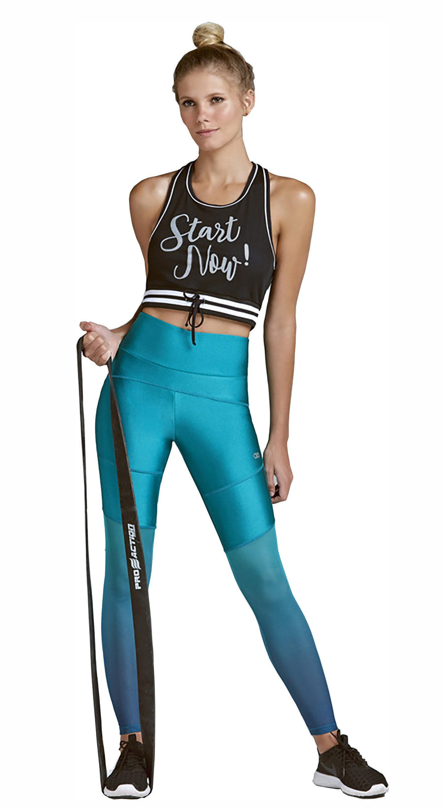 Brazilian Workout Legging- High Waist Atlanta Mesh Green or Black