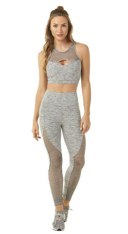 Brazilian Workout Legging- High Waist Groove Tela Gray