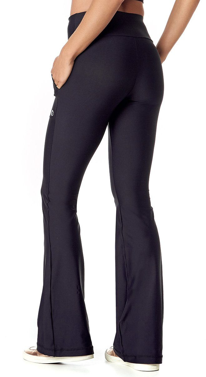 Brazilian Flare Pants - Basic Black With Side Pockets