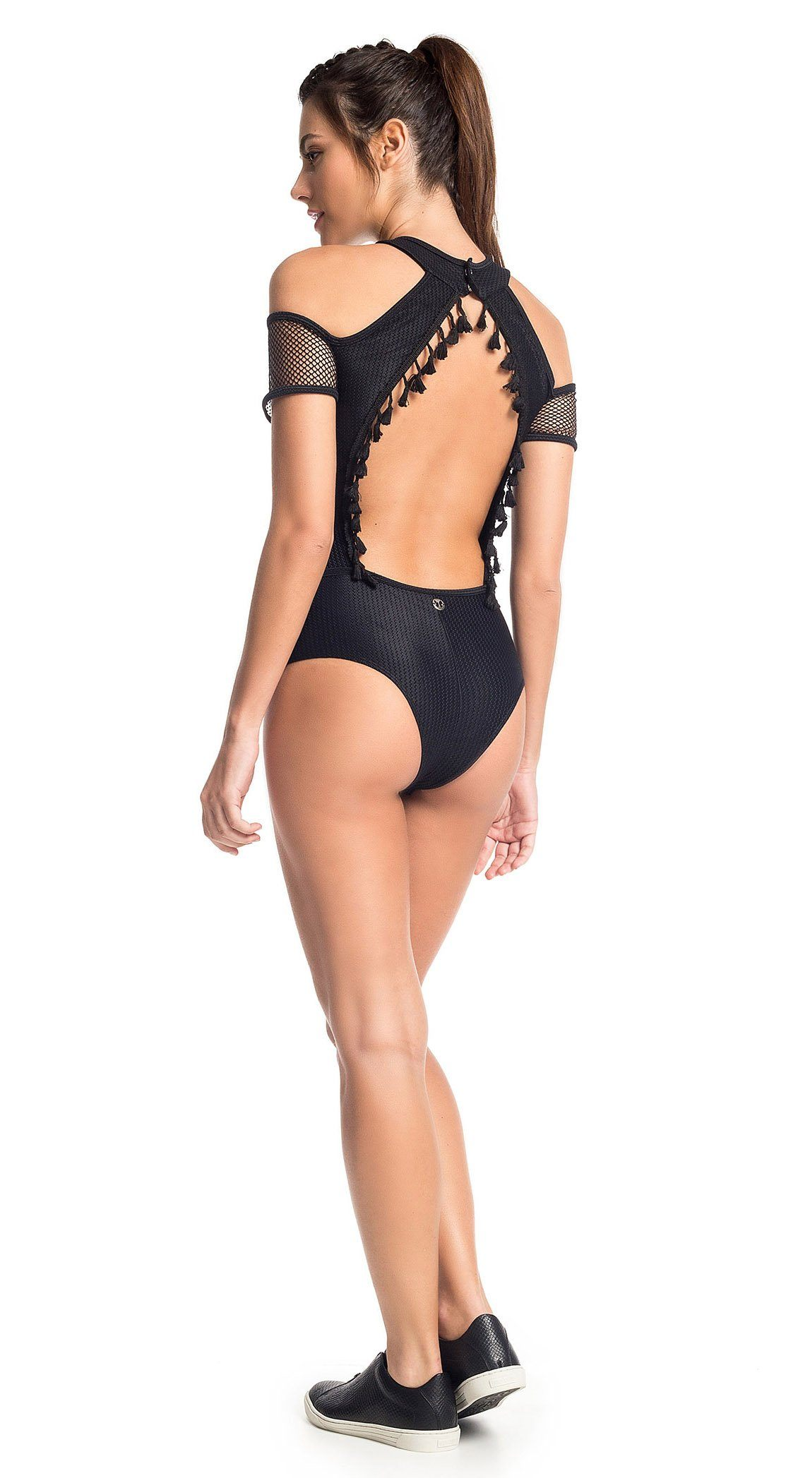 Workout Bodysuit - Body Vision Black - Top Rio Shop 56e470a05a15
