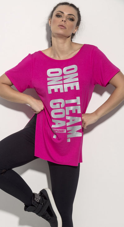 Brazilian Workout T-Shirts -SuperHot One Team Pink Blouse