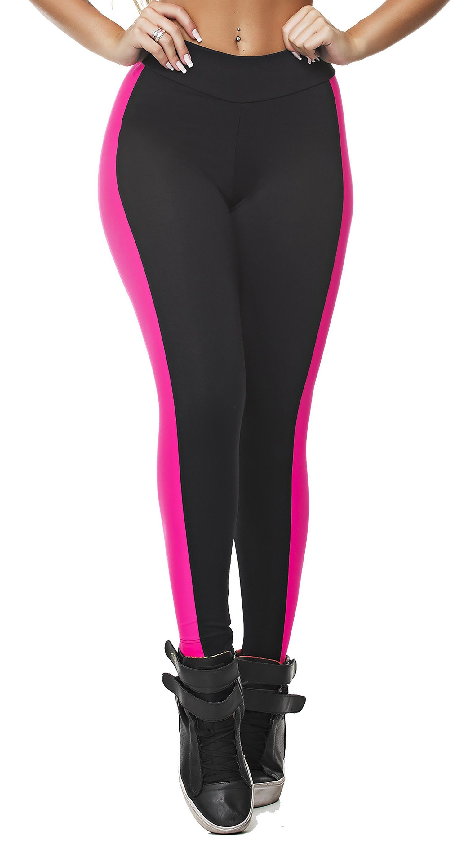 Workout Legging - Power Vibes Neon Pink