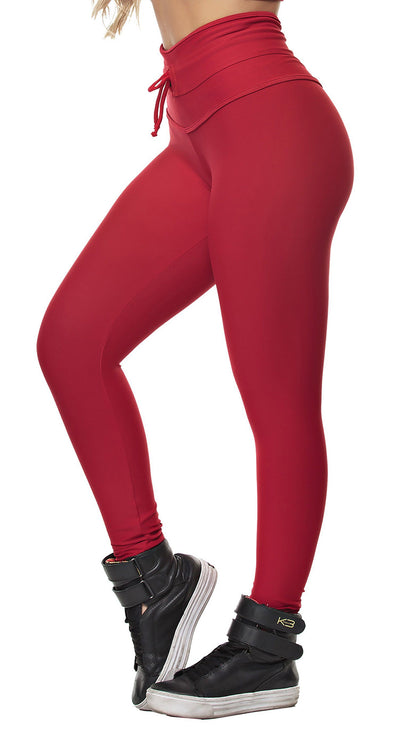 Workout Legging -  High Waist Dunas Red