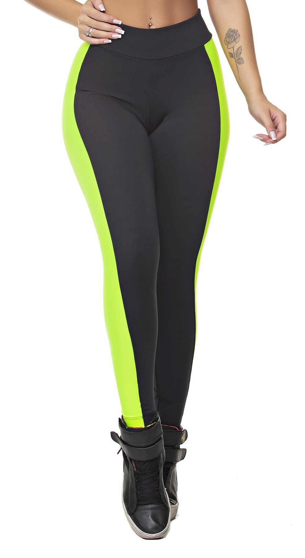 Workout Legging - Power Vibes Neon Yellow