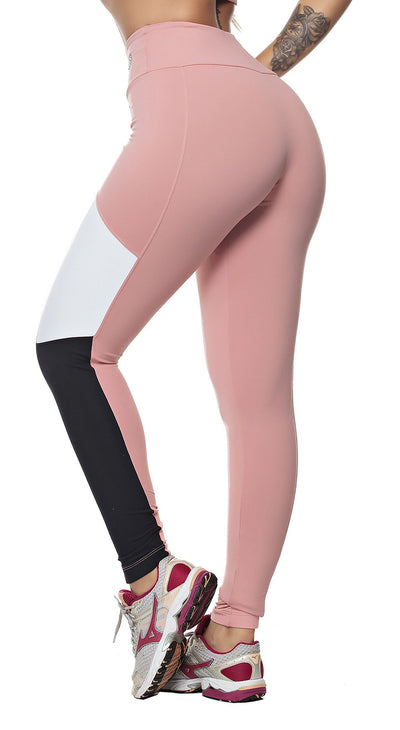 Workout Legging - Rose Nude Tricolor