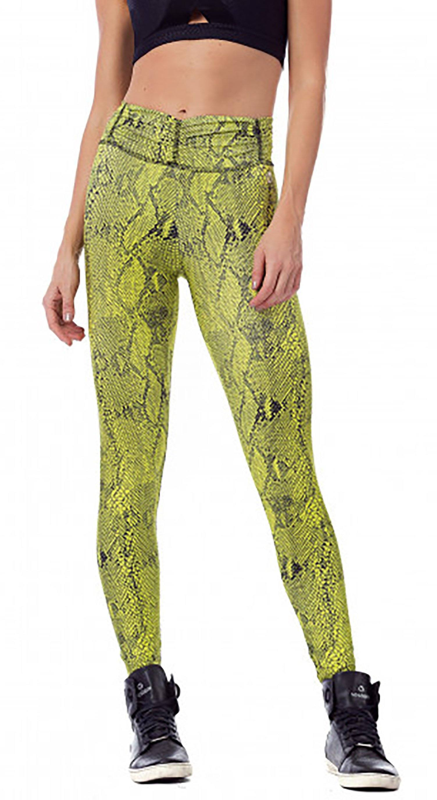 Brazilian Workout Legging -  Snake Neon Print