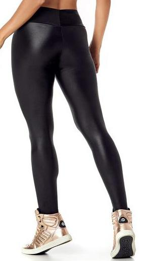 Brazilian Workout Legging -  Wet Look Black