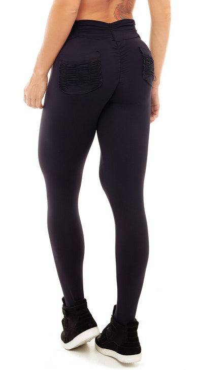 Brazilian Workout Legging - Booty Up Pockets Black