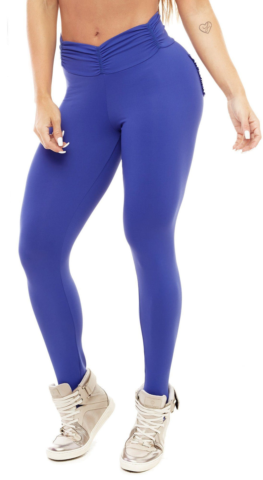 Brazilian Workout Legging - Booty Up Pockets Blue